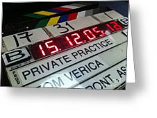 Movie Slate From Private Parctice Greeting Card