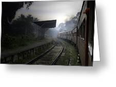Moving Train Greeting Card