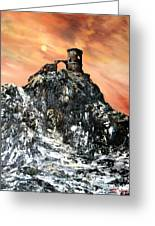 Mow Cop Castle Staffordshire Greeting Card