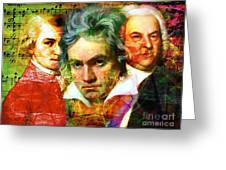 Mozart Beethoven Bach 20140128 Greeting Card