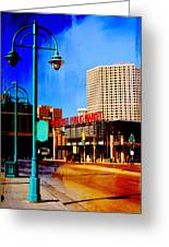 Mpm And Lamp Post Abstract Painting Greeting Card