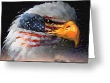 Mr. American Eagle Greeting Card