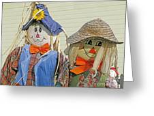 Mr And Mrs Scarecrow Greeting Card