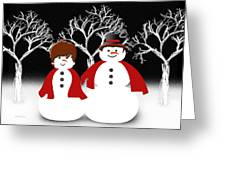 Mr And Mrs Snow 1 Greeting Card