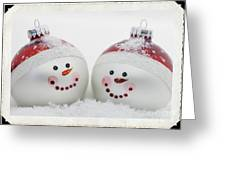 Mr. And Mrs. Snowman Greeting Card