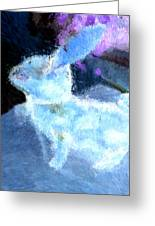 Mr. Blue Bunny Greeting Card