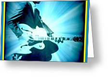 Mr Chuck Berry Blueberry Hill Style Edited 2 Greeting Card