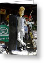 Mr Gas Pump Mechanic Greeting Card by Kim Galluzzo Wozniak