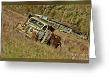 Mr Greenjeans Truck Greeting Card