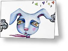Mr Happy Bunny Greeting Card