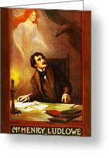 Mr Henry Ludlowe In The Raven Greeting Card