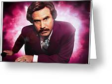 Mr. Ron Mr. Ron Burgundy From Anchorman Greeting Card