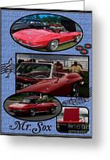 Mr. Sox Corvette Greeting Card