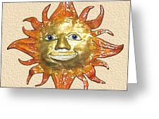 Mr. Sun Greeting Card