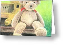 Mr Teddy Greeting Card
