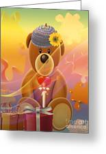 Mr. Teddy Bear Greeting Card