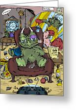 Mr.dino Greeting Card