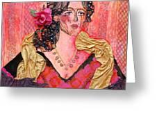 Mrs. Dedlocke Greeting Card by Diane Fine