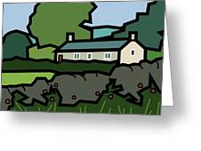 Mrs Hartly's Cottage Greeting Card by Kenneth North
