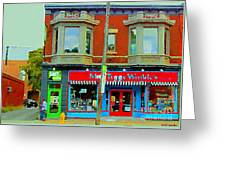 Mrs Tiggy Winkle's Toy Shop And Lost Marbles Richmond Rd The Glebe Paintings Ottawa Scenes C Spandau Greeting Card