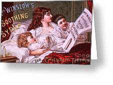 Mrs Winslow's Soothing Syrup Greeting Card