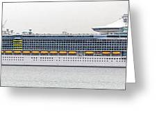 M S Independence Of The Seas Greeting Card