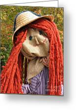Ms Scarecrow Greeting Card