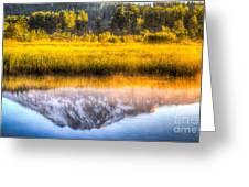 Mt Adams Reflection Greeting Card