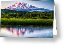 Mt Adams Sunset Greeting Card
