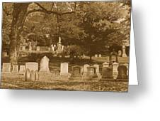 Mt Auburn Cemetery 13 Sepia Greeting Card