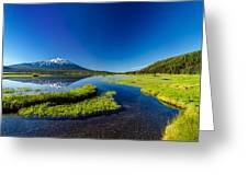 Mt. Bachelor Reflection And Forest Greeting Card