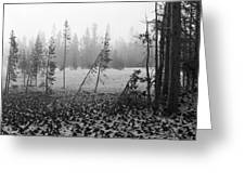 Mt Bachelor Road Greeting Card
