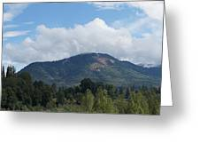 Mt Baldy Panorama From Grants Pass Greeting Card