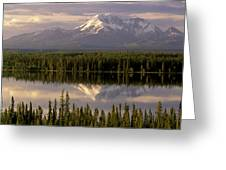 Mt Drum Over Willow Lake Wrangell-st Greeting Card