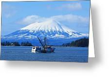 Mt E. At Herring Season Greeting Card by Ashley  Kinney-Maravilla