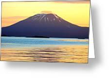 Mt. Edgecombe Bright Sunset Greeting Card by Ashley  Kinney-Maravilla