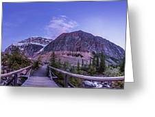Mt. Edith Cavell Trail At Twilight Greeting Card