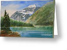 Mt. Edith Cavell W/c Greeting Card