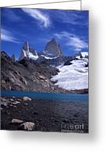 Mt Fitzroy And Laguna De Los Tres Greeting Card
