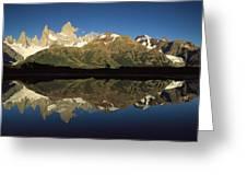 Mt Fitzroy At Dawn Patagonia Greeting Card