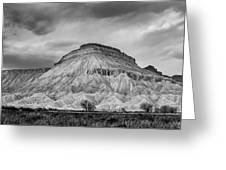 Mt. Garfield - Black And White Greeting Card