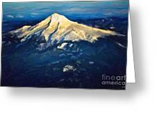 Mt. Hood From Above Greeting Card