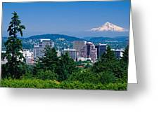 Mt Hood Portland Oregon Usa Greeting Card