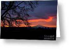 Mt Hood Sunrise Greeting Card