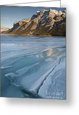 Mt. Inglismaldie And Ice Formations Greeting Card