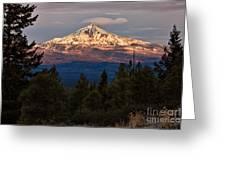 Mt. Jefferson At Dawn Greeting Card