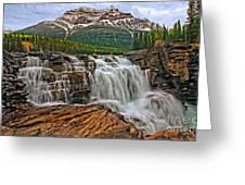 Mt. Kerkeslin  Athabasca Falls Greeting Card