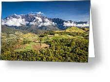 Mt. Kinabalu - The Highest Mountain In Borneo Greeting Card