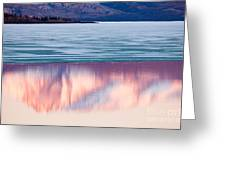 Mt Laurier Mirrored On Lake Laberge Yukon Canada Greeting Card