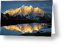 Mt Makalu And Mt Chomolonzo Greeting Card